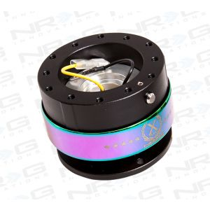NRG ® - Quick Release Shiny Black Body with Neochrome Ring (SRK-200SBK-MC)