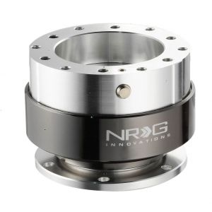 NRG ® - Quick Release Silver Body with Black Chrome Ring (SRK-100BC)