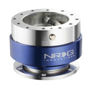 NRG ® - Quick Release Silver Body with Blue Ring (SRK-100B)