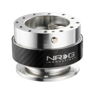 NRG ® - Quick Release Silver Body with Carbon Fiber Ring (SRK-100CF)