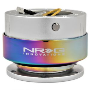 NRG ® - Quick Release Silver Body with Neochrome Ring (SRK-200SL-MC)