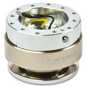 NRG ® - Quick Release Silver Body with Titanium Ring (SRK-100T)