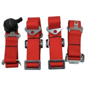 NRG ® - Red 4 Point 2 Inches Cam Lock Seat Belt Harness (SBH-4PCRD)