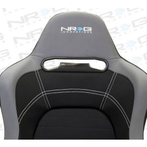 NRG ® - Right and Left Black Cloth EVO Style Sport Racing Seats (RSC-100R/RSC-100L)