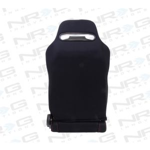 NRG ® - Right and Left Black Cloth Type R Sport Racing Seats with Red Stitch and NRG Logo (RSC-200R/RSC-200L)