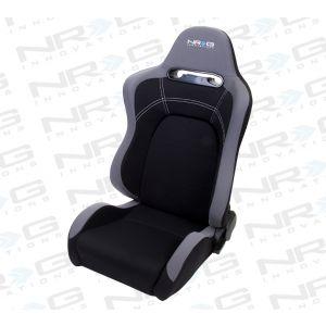 NRG ® - Right Black Cloth EVO Style Sport Racing Seat (RSC-100R)