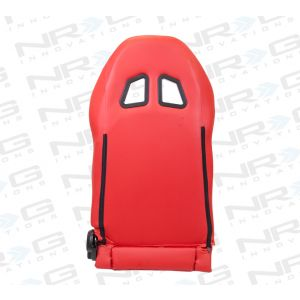 NRG ® - Right Red PVC leather Sport Racing Seat with Black Trim (RSC-202R)