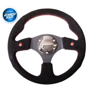 NRG ® - Sport Black Suede Steering Wheel with Dual Button (ST-007S)