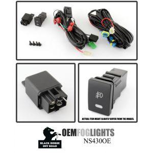 Black Horse Off Road ® - OEM Replica Clear Fog Lights (NS430OE)