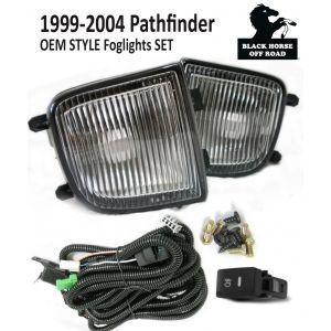 Black Horse Off Road ® - OEM Replica Clear Fog Lights (NS435OE)