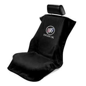Seat Armour ® - Black Towel Seat Cover with Buick Logo (SA100BCKB)