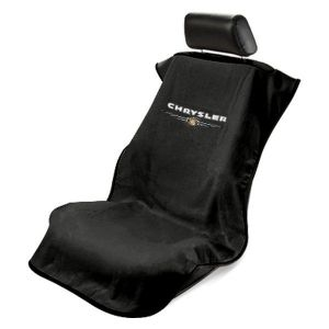 Seat Armour ® - Black Towel Seat Cover with Chrysler Logo (SA100CHRB)