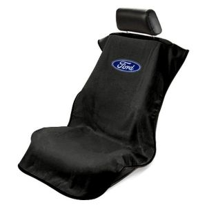 Seat Armour ® - Black Towel Seat Cover with Ford Logo (SA100FORB)