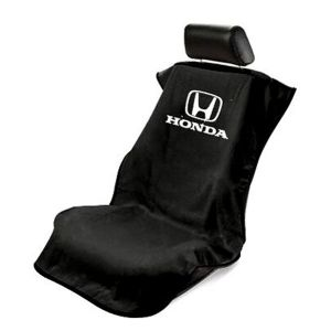 Seat Armour ® - Black Towel Seat Cover with Honda Logo (SA100HONB)