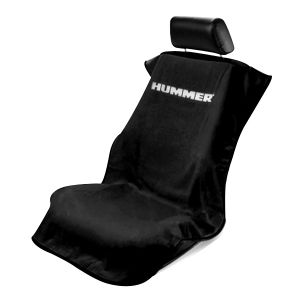 Seat Armour ® - Black Towel Seat Cover with Hummer Logo (SA100HUMB)