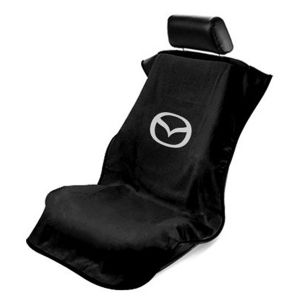 Seat Armour ® - Black Towel Seat Cover with Mazda Logo (SA100MZDB)
