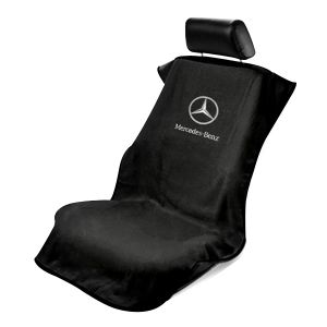 Seat Armour ® - Black Towel Seat Cover with Mercedes Benz Logo (SA100MBZB)