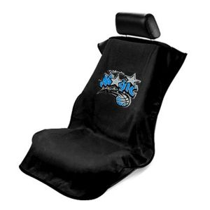 Seat Armour ® - Black Towel Seat Cover with NBA Orlando Magic Logo (SA100MAGI-B)