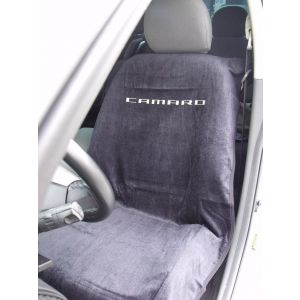 Seat Armour ® - Black Towel Seat Cover with New Camaro Logo (SA100NCAMB)