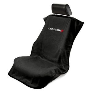 Seat Armour ® - Black Towel Seat Cover with New Dodge Logo (SA100NDODB)
