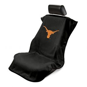 Seat Armour ® - Black Towel Seat Cover with Texas Univ. Longhorns Logo (SA100LONGH)