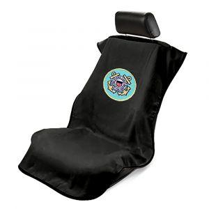 Seat Armour ® - Black Towel Seat Cover with US Coast Guard Logo (SA200USCOG)