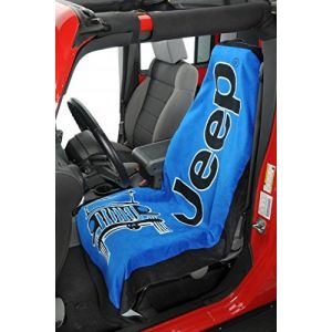Seat Armour ® - Blue Towel 2 Go Seat Cover with Jeep Wrangler Logo (T2G100B)
