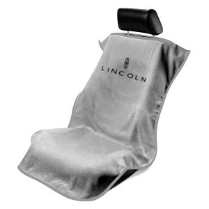 Seat Armour ® - Grey Towel Seat Cover with Lincoln Logo (SA100LING)