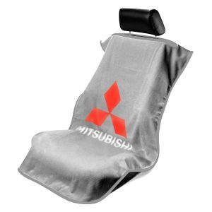 Seat Armour ® - Grey Towel Seat Cover with Mitsubishi Logo (SA100MITG)