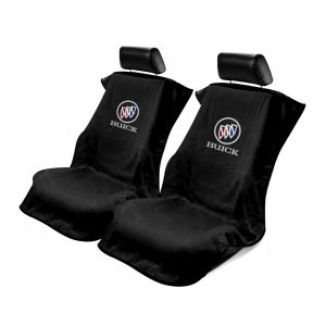 Seat Armour ® - Pair of Black Towel Seat Covers with Buick Logo (SA100BCKB)