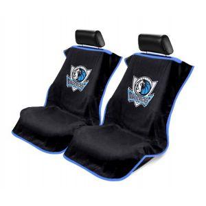 Seat Armour ® - Pair of Black Towel Seat Covers with NBA Dallas Mavericks Logo (SA100MAVE-B)