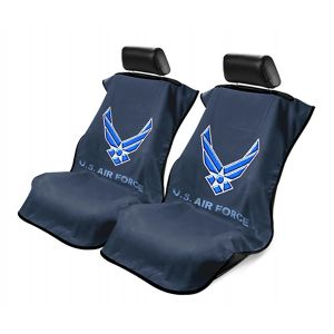 Seat Armour ® - Pair of Black Towel Seat Covers with US Air Force Logo (SA200USAIRF)