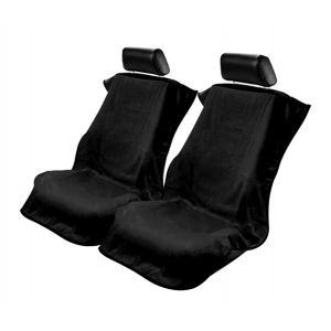 Seat Armour ® - Pair of Black Towel Seat Covers without Logo (CST-BLK)