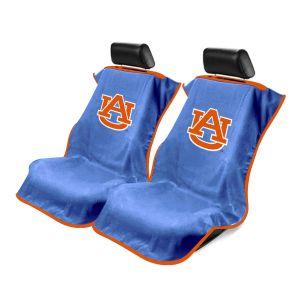 Seat Armour ® - Pair of Blue Towel Seat Covers with NCAA Auburn University Logo (SA100AUBURN)