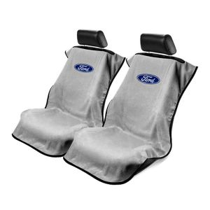 Seat Armour ® - Pair of Grey Towel Seat Covers with Ford Logo (SA100FORG)
