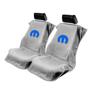 Seat Armour ® - Pair of Grey Towel Seat Covers with Mopar Logo (SA100MOPG)