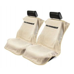 Seat Armour ® - Pair of Tan Towel Seat Covers with Hummer Logo (SA100HUMT)