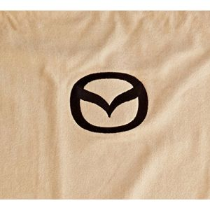 Seat Armour ® - Pair of Tan Towel Seat Covers with Mazda Logo (SA100MZDT)