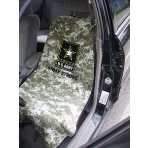 Seat Armour ® - Pair of  Towel Seat Covers with US Army Logo (SA200USARMY)