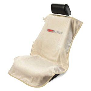 Seat Armour ® - Tan Towel Seat Cover with Corvette Z06 Logo (SA100COR6ZT)
