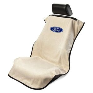 Seat Armour ® - Tan Towel Seat Cover with Ford Logo (SA100FORT)