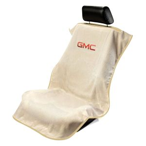 Seat Armour ® - Tan Towel Seat Cover with GMC Logo (SA100GMCT)