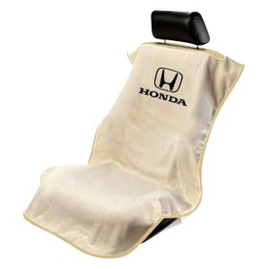 Seat Armour ® - Tan Towel Seat Cover with Honda Logo (SA100HONT)
