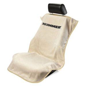 Seat Armour ® - Tan Towel Seat Cover with Hummer Logo (SA100HUMT)