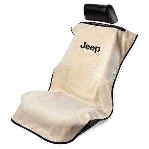 Seat Armour ® - Tan Towel Seat Cover with Jeep Letters Logo (SA100JEPT)