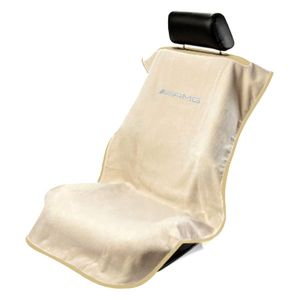 Seat Armour ® - Tan Towel Seat Cover with Mercedes-Benz AMG Logo (SA100AMGT)