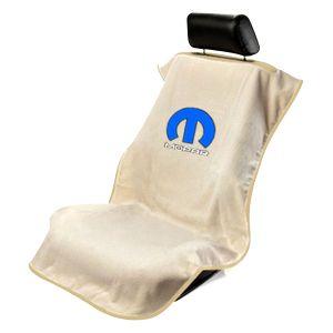 Seat Armour ® - Tan Towel Seat Cover with Mopar Logo (SA100MOPT)