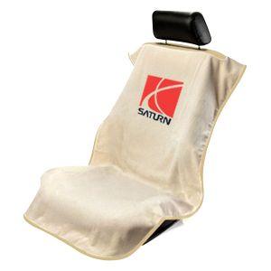 Seat Armour ® - Tan Towel Seat Cover with Saturn Logo (SA100SATT)