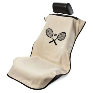 Seat Armour ® - Tan Towel Seat Cover with Tennis Logo (SA100TRCQT)
