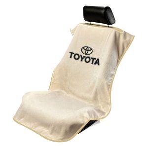 Seat Armour ® - Tan Towel Seat Cover with Toyota Logo (SA100TOYT)